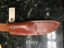 Ruana Hand Made Hunting/skinning Knife With Leather Sheath Bonner Montana
