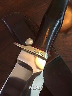 Super Rare Gil Hibben Original Vintage Custom Handmade Hunting Knife Manti Ut
