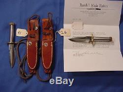 Scarce and Original Randall Made Knife Mini #18 withRMK Sheath and COA