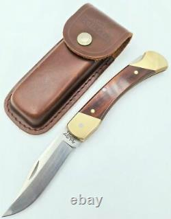 Schrade Uncle Henry Lb7 Old Timer Made In Usa! Pocket Folding Knife + Belt Pouch