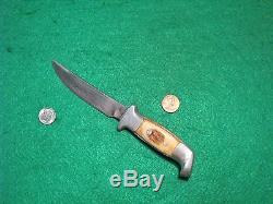 Sheath LG M Blade Hunt Ruana Bonner Fighting Knife Buck Stag #1 ORG Fold Case