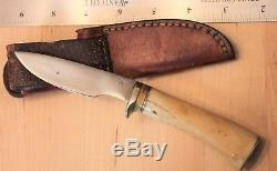 Small Clyde Fischer stag hunting knife Pro Caper model