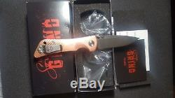 Southern Grind Spider Monkey Folding Knife s35vn Copper Scales Exclusive