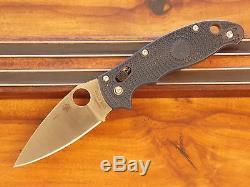 Spyderco Dark Blue Manix 2 Lightweight Plain Edge Knife