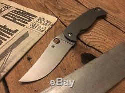 Spyderco Farid Mehr K2 Frame Lock Knife (4.5 Satin) C185TIP