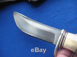 Steve Morseth Classic Stag Hunting/Skinning Knife With Custom Sheath