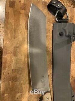 TOPS El Chete Micarta Handle 1095HC Fixed Blade Survival Knife ELCH-01 Dangler