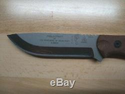 TOPS Fixed Blade Knife B. O. B. Hunter dark tan handle used