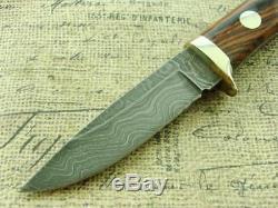 Tak Fukuta Japan Damascus Hunting Skinning Fixed Blade Knife Set Vintage Knives