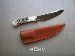 Todd Krein Custom Stag Handle Hunting Skinning Knife