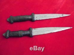 Two Old Vintage Tuareg/north Africa Hunting Knife Leader Sheath Dagger