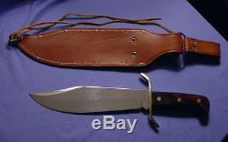UNUSED Vintage WESTERN USA W49 BOWIE Hunting Survival Fighting Knife & Case NM