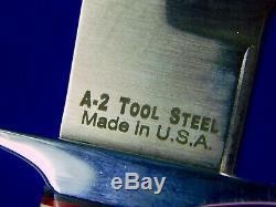 US BlackJack Stag Handle Hunting Knife with Sheath Box