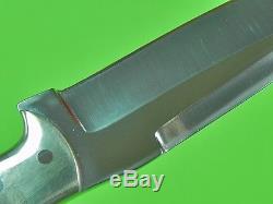 US Custom Hand Made LARRY PRIDGEN Hunting Fighting Knife & Sheath