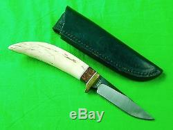 US Custom Hand Made R. W. Wilson Hunting Knife & Sheath