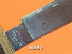 US Vintage Custom Hand Made Bill W. F. Moran Hunting Knife with Sheath