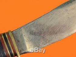 US Vintage Post WW2 1940-50's MARBLES Gladstone MI WOODCRAFT Belt Hunting Knife