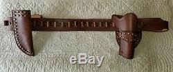 Used/New Leather Western Holster, Gunbelt, Knife Sheath Antique Brown $250