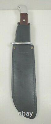 VINTAGE Buck Knife Frontiersman Model 124 Sheath Brown Wood Handle