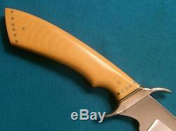 Vintage Custom Slaughter Hunting Skinning Gamblers Dirk Bowie Knife Knives Old