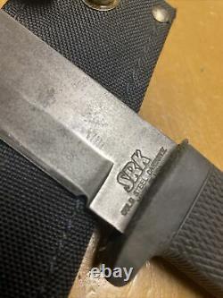 VINTAGE/DISCONTINUED COLD STEEL SRK CARBON V FIXED BLADE KNIFE-WithSHEATH-USA