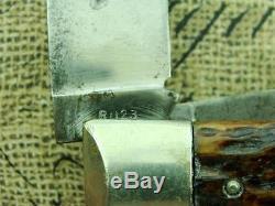 Vintage Jumbo Remington R1123 Bone Bullet Trapper Pocket Knife Hunting Knives Nr