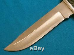 Vintage Pre'73 Buck USA 124 Frontiersman Hunting Skinning Survival Bowie Knife