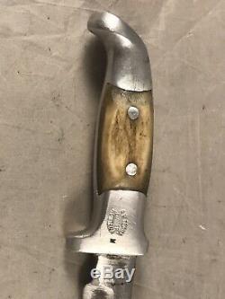 VINTAGE RH RUANA KNIFE M BONNER MONTANA with ORIGINAL SHEATH 9 HUNTING KNIFE
