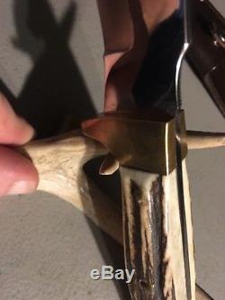 VINTAGE Rehwappen Linder Messer Knife SAWBACK Ranger Stag Hunting Bowie Knife