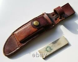 VINTAGE SCHRADE UNCLE HENRY 165UH PROSPECTOR KNIFE WithSHEATH NICE