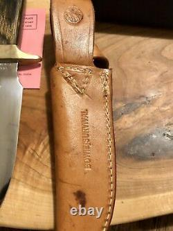VINTAGE SMITH & WESSON MADE IN USA 6010 BOWIE SURVIVAL KNIFE WithSHEATH + BOX
