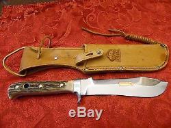 Vintage Stag Puma Skinning Hunting Knife # 6377 Puma White Hunter