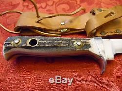 Vintage Stag Puma Skinning Hunting Knife # 6394 Puma Hunters Companion