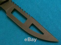 Vintage Tekna USA Wilderness Edge Survival System Knife Hunting Scuba Divers Old
