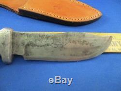 VTG Custom Hand Made R. H. RUANA Stag Hunting Knife Bonner Skinning 87/8 Blade M