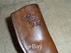 VTG Custom Handmade IRBI Virgil Campbell Antler Hunting Knife Moose Pass Alaska