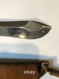 Very Hard To Find Puma White Hunter Knife 1956 First Year Made In Germany
