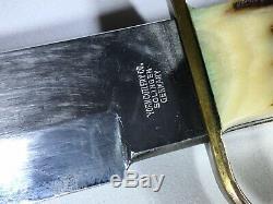 Vintage 13.5 Solingen German York Cutlery Stag Hunting Skinning Bowie Knife