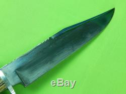Vintage 1970's Limited WOSTENHOLM I-XL Large Bowie Hunting Knife & Sheath