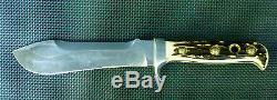 Vintage 1974 PUMA 6377 White Hunter Hunting Knife + Orig Sheath Mint Cond