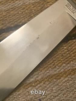 Vintage 1981 Western USA W49 E Bowie Survival V44 Style Fighting Knife No Sheath