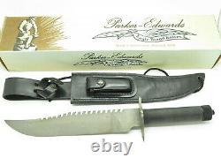 Vintage 1986 Parker Edwards USA Archegos Fixed Damascus Knife Rambo Inspired