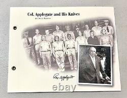 Vintage 1997 LE Boker Gerber APPLEGATE-FAIRBAIRN 2 Knives & Plaque Dagger Knife