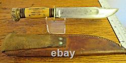 Vintage 30's-40's Marbles Ideal hunting knife stag handle Gladstone
