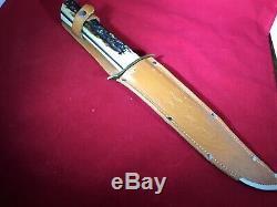 Vintage 70s 13.5 Solingen German Edge Brand 443 Hunting, Skinning Bowie Knife