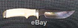 Vintage 70s Corbet C. R. SIGMAN Fixed Blade Hunting Knife with Sheath Made In USA