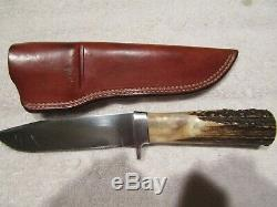 Vintage AG Russell Bob Dozier Handmade Knife. Hunter Bowie. Used