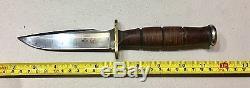 Vintage Al Mar Grunt Japan Hunting Fighting Dagger Knife WithOriginal Sheath