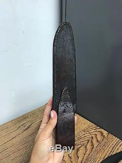 Vintage Attack Orlando Randall 16 Hunting Knife & Sheath With Sharpening Stone