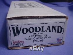 Vintage BARK RIVER USA PROTOTYPE Black Carbon Fiber HUNTING KNIFE, STEEL & CASE